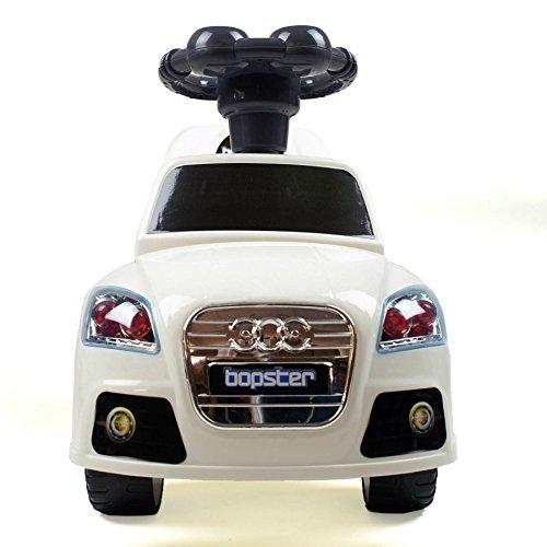 Bopster Kinder Kleinkinder ziehbares Tret Sportwagen Audi weiß - 2