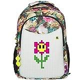 Pixie Crew Student Backpack (Student Backpack grau gestreift)