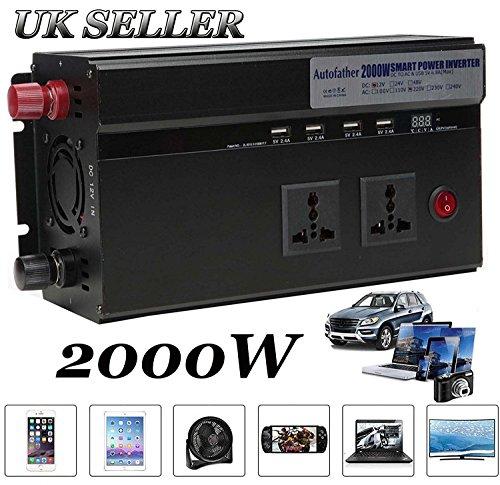 woyao13deng Auto Inverter 2000 Watt/Watt DC 12 V zu AC 220 V/Auto Konverter/USB Port Buchse Gerät Lade