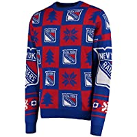 NHL NEW YORK RANGERS Ugly Sweater Pullover Christmas Weihnachtspullover Patches