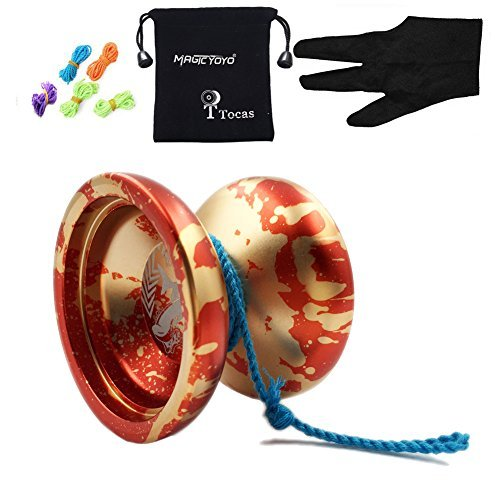 authentic-magicyoyo-n12-shark-honor-professional-unresponsive-yo-yos-with-bag-5-strings-glove-for-gi