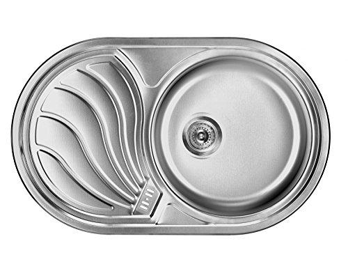 Preisvergleich Produktbild Einbauspüle Edelstahl Spülbecken Küchenspüle Edelstahlspüle Waschbecken Rumba Rechts ZMR 011P