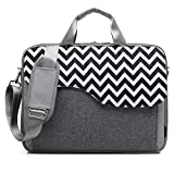 CoolBell 17,3 Zoll Laptop Tasche Nylon Schultertasche mehrfach Abteil Messenger Bag Handtasche Aktentasche Businesstasche Notebooktasche für Laptop/Tablet / MacBook,Grau-Welle