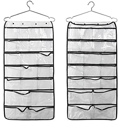 Loriver 42 bolsillos de doble transparente almacenamiento organizadores