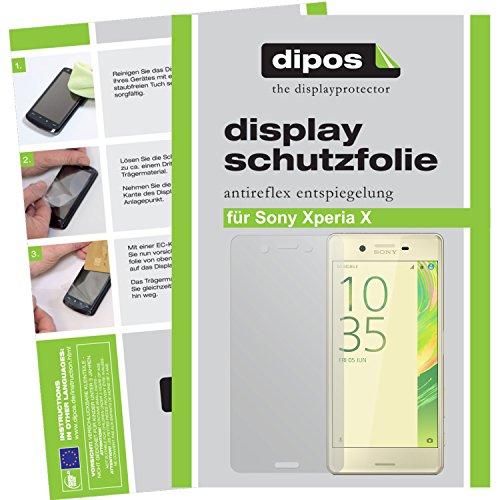 dipos I 6X Schutzfolie matt passend für Sony Xperia X Folie Bildschirmschutzfolie