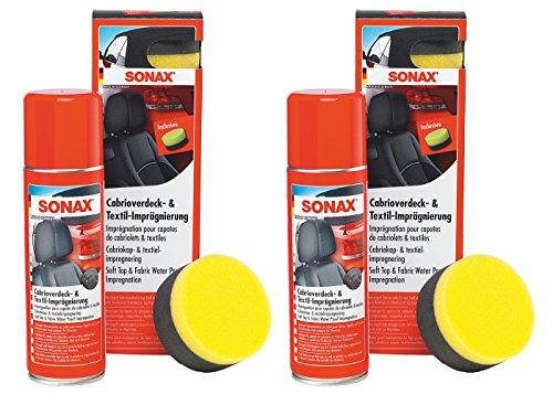 Preisvergleich Produktbild 2x 300ml SONAX CABRIOVERDECK- & TEXTILIMPRÄGNIERUNG VERSIEGELUNG IMPRÄGNIERUNG