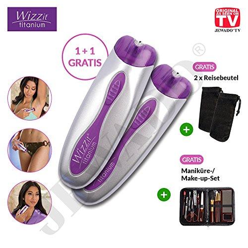 Wizzit® Titanium–Depiladora Eléctrica o Depiladora 1+ 1Gratis, Depilación en poco tiempo–Original de TV de publicidad