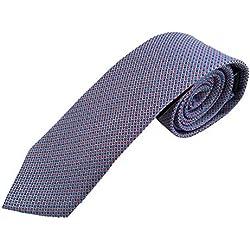 Corbata azul con puntos rojos, fabricada a mano, 100% seda, el epítome del lujo en calidad. Pietro Baldini