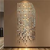 MEHE@ Kreative Persönlichkeit 3D Acryl Wandsticker Wohnzimmer Schlafzimmer Kindraumes Karikatur-Wand-Aufkleber ( farbe : Silber , größe : 64*160cm )