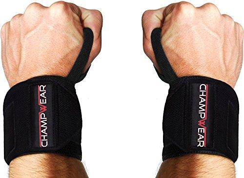 CHAMPWEAR Handgelenk Bandagen [Wrist Wraps] 40 cm Handgelenkbandage für Fitness, Bodybuilding, Kraftsport & Crossfit - Stabilisierend & Schützend - für Frauen und Männer