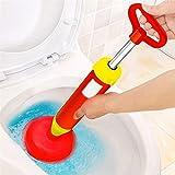 Pressluft Rohrreiniger Abflussreiniger Mit 2 Aufsätzen Für Toilette Badewanne Küchenbecken