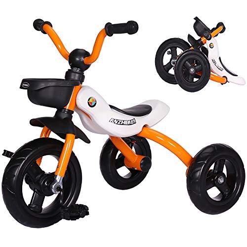 Aocean Babywagen Dreirad,Fahrrad 18 Monate bis 5 Jahre mit Trike Baby Kinderwagen Flüsterleise Gummireifen Belastbarkeit bis 30 kg, Yellow