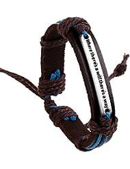 A Bracelet En Cuir RéTro Alliage En Cuir