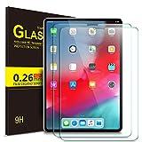 IVSO Panzerglas Schutzfolie Für Apple iPad Pro 12.9 2018 Mit der Gesichts-ID Arbeiten, 9H Härte, 2.5D, Glas Panzerfolie Bildschirmschutzfolie Für Apple iPad Pro 12.9 Zoll 2018 Modell, (2 x)