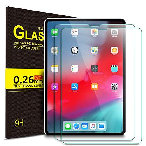 IVSO Panzerglas Schutzfolie Für Apple iPad Pro 12.9 2018 Mit der Gesichts-ID Arbeiten, 9H Härte, 2.5D, Glas Panzerfolie Displayschutzfolie Für Apple iPad Pro 12.9 Zoll 2018 Modell, (2 x)