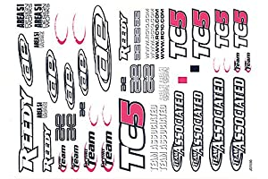 Team Associated ae31295 - TC5 Sticker Sheet, función de construcción y Accesorios