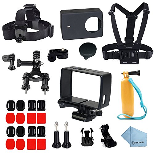 Galleria fotografica Rhodesy Telaio Protettivo Custodia 28 in 1 Xiaomi Yi 4K/4K+ Accessori Busta for Xiaomi Yi 4K/4K+ Action Camera 2