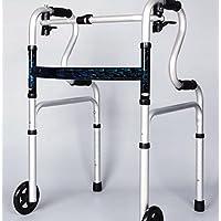 A piedi in lega di alluminio di aiuti per il camminatore di anziani quattro piedi pieghevole bracciolo sanità leggera pieghevole viaggio Walker