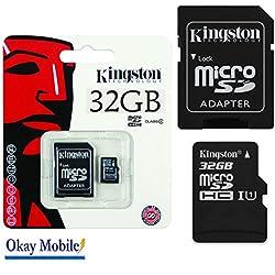 Original Kingston - Tarjeta de memoria MicroSD (32 GB, para Samsung Galaxy J5 Duos)