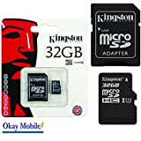 Kingston Carte mémoire microSD de 32 Go Pour Samsung Galaxy A5 2016 SM-A510F