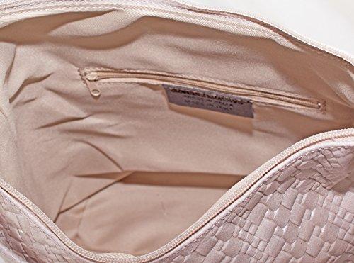 49ee480a50f79 ... Ital Echt Leder Damentasche Umhängetasche Schultertasche Tragetasche  Wildleder (rosa) rosa