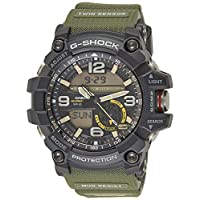 Casio Sport Analog-Digital Display Watch For Men Gg-1000-1A3, Green Band