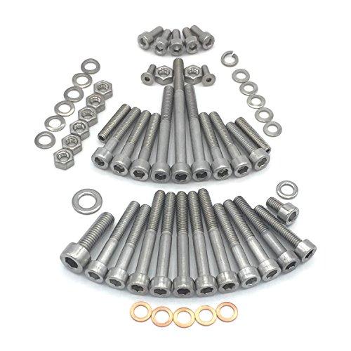 Simson Schwalbe Motor Schraubensatz für KR51/1 mit Fußschaltung Motor M53/1 KF Zylinderschrauben mit Innensechskant aus Edelstahl V2A, 58 teilig -