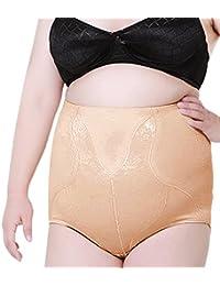 Vococal Women's post-partum haute taille culotte de levage fesses ferme de contrôle culottes Black/Beige