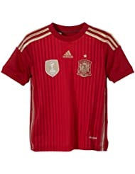 adidas Selección Española de Fútbol - Camiseta de fútbol para niño, 2014, color rojo, talla 12 años (152-164 cm)