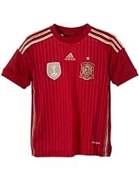 adidas Selección Española de Fútbol - Camiseta de fútbol para niño, 2014, color rojo, talla 9 años (134-140 cm)