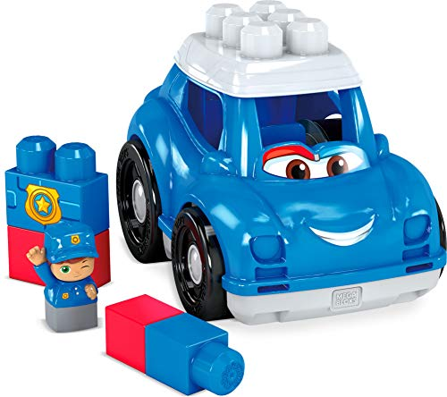 Mega Bloks Coche de Policia, juguete de construcción para niños +1 año (Mattel GCX08)