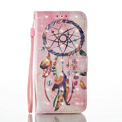 Custodia iPhone 5S,YingC-T 3D Creativo Brillantini Shiny Elegante di Sottile iPhone 5 Custodia PU pelle del Cuoio Copertura Portafoglio/ Wallet/ Libro Protettiva Supporto Stand Porta Carte Chiusura Ma Campanula Colorato