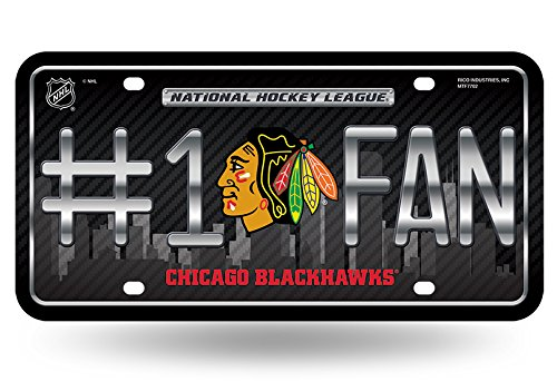 NHL #1 Fan US-Kennzeichen Metall-Schild Chicago Blackhawks