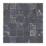 S-006 Schiefer Naturstein-Mosaik Wand + Boden Design Bad-Fliesen Lager Verkauf Herne NRW