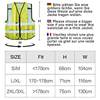 Salzmann 3M High Visibility Multi Pocket Vest with 3M Reflective Tape