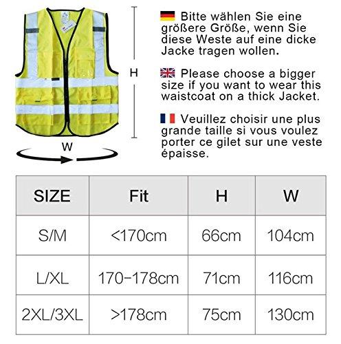 Salzmann 3M Warnweste Unisex Hochsichtbare Warnweste ausgestattet mit 3M Reflektierende , Gelb
