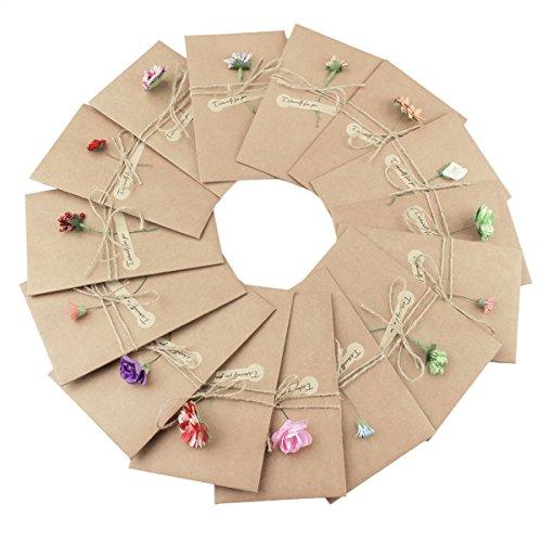 Tomkity 10 pezzi buste cartoncini augurali con busta per diverse occasioni auguri di matrimonio, compleanno, inviti lettera, natale (10 pezzi)