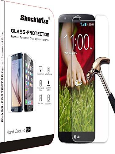 LG G5von shockwize Premium [gehärtetem Glas] Screen Protector HD Transparenz stoßfest LG G5, 1 Single Clear (Verizon Lg Screen Protector)
