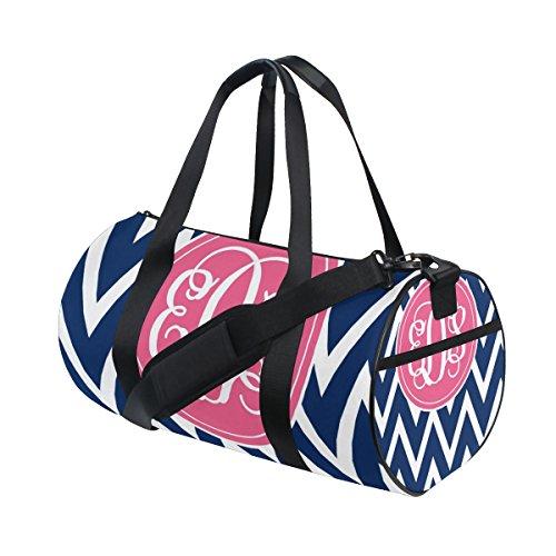 Chevron Duffle Bag Handlich Sports Gym Bags Schultertasche für Männer und Frauen (Basketball-binder)