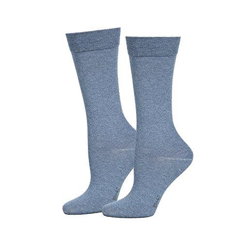 SaferSox Business Socken Hellblau meliert, 43-46 (Socken Nahtlose Aktive)