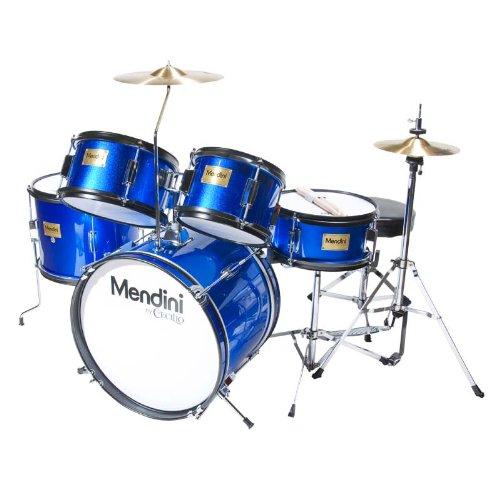 mendini-mjds-5-bl-junior-drum-set-blue