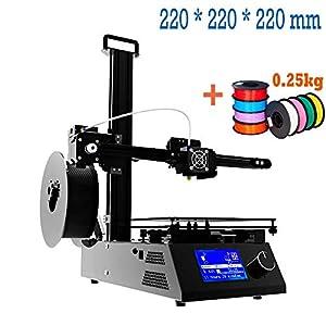 Impresora 3d Prusa i3Full Metal Structure con MK3heatbed, Double Fans, pantalla LCD HD, tamaño máximo de impresión color 220* 220* 220mm (envío Express Rápido)