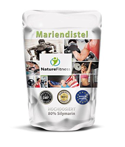 Mariendistel - Milk Thistle - 240 Tabletten 3000mg hochdosiert - 80% Silymarin - Leber & Verdauung
