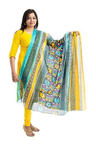 Lodestone Women's Cotton Dupatta (Multi-Coloured)