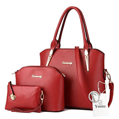 Borse a tracolla Yoome Crossbody borsa a tracolla borsa borsa borsa da trucco borse da trucco borse casual - rosa Borgogna
