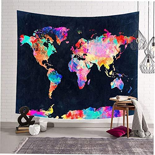 WEINANA Nordic ins Art-einzigartige Druckwand-hängende Decken-Tapisserie-Ausgangshintergrund-Dekoration für Wohngestaltung-Weltkarte