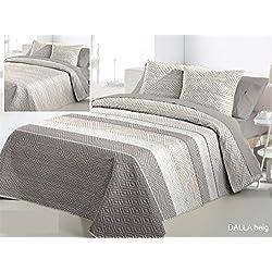 Fundeco Colcha Bouti DALLA cama 150 - Color Beig