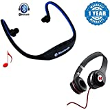 Captcha BS19C Universal Bluetooth Stereo Headset With Micro Sd Slot With Mega Bass Headphones With Mic (One Year Warranty)