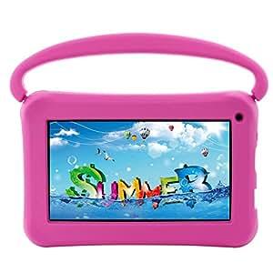 "ittle British Kids 7"" IPS Screen, Quad Core Google Android MarshMallow Tablet PC (8GB, 1GB Ram, USB, Wifi, Bluetooth, HDMI) - Pink"