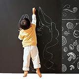 Cusfull Lavagna Adesiva Rimovibile 90x200cm Nero/Autoadesivo Lavagna Parete Rimovibile, Adesivo di Contatto di Carta per la Casa e la Decorazione Office Ideale per Messaggi